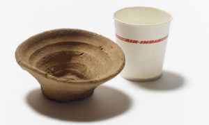 Waxed disposable cup from 3500 years ago
